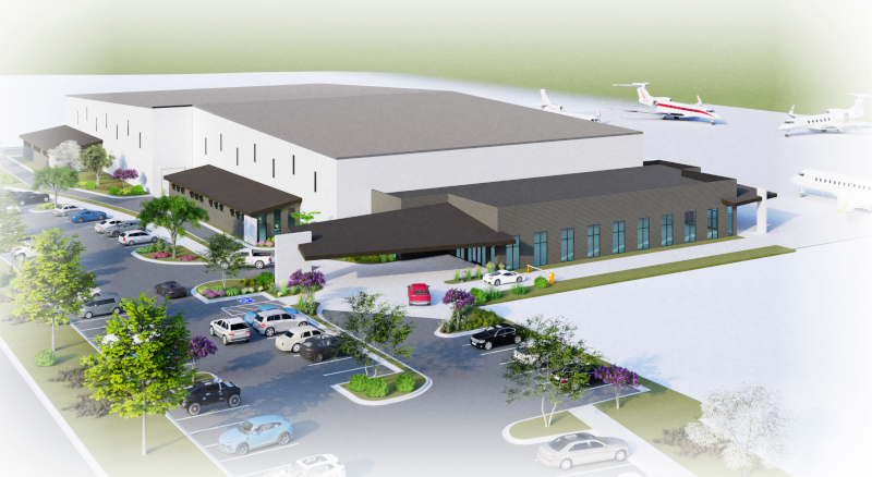 Modern Aviation Apa Architectural Rendering Of The New Facility 800